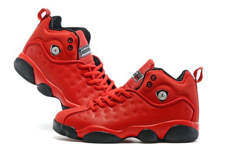 a362b4d1e458 2016 Air Jordan Team 2 GS Red Black Shoes
