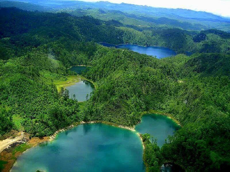 En Chiapas lagunas de Montebello mexico
