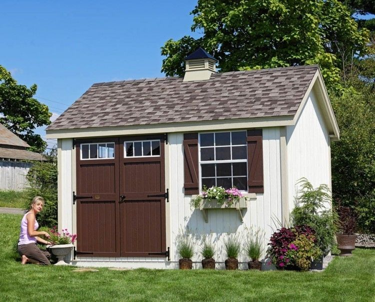 She Shed Woman Cave 8 Ft X 8 Ft Wooden Storage Shed Preassembled Panelized Kit Building A Shed Backyard Shed Shed Design
