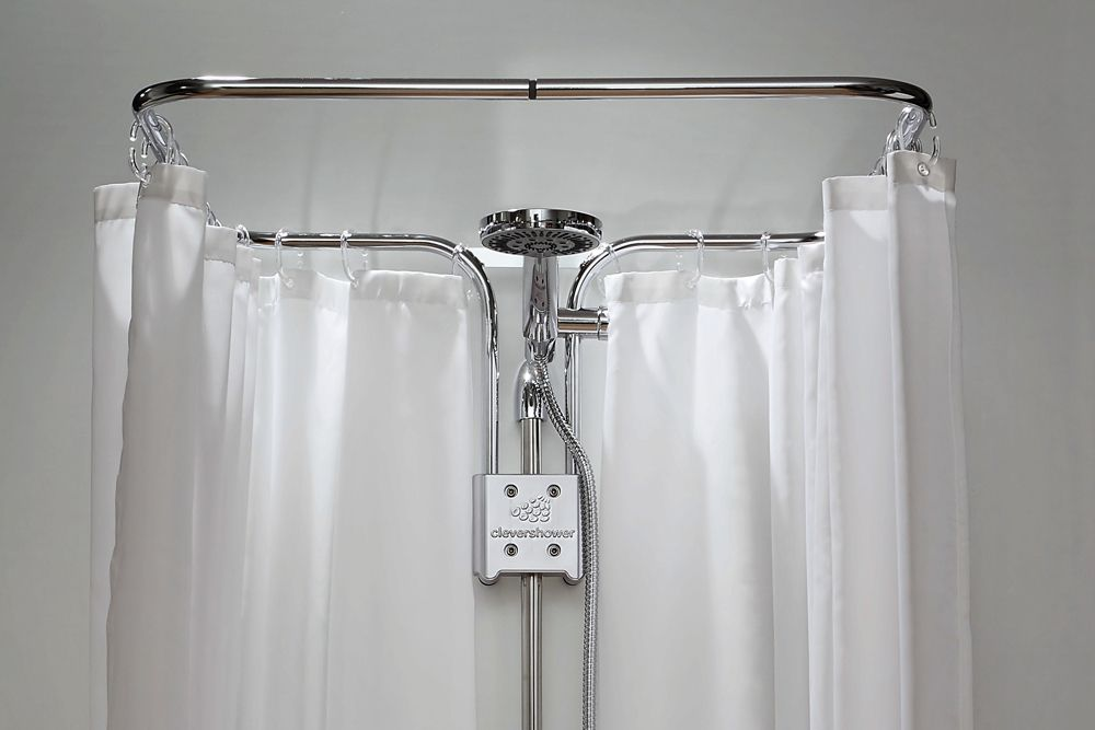 Clevershower Albert Pro Shower Curtain Fastener Shower Curtain Shower Curtains