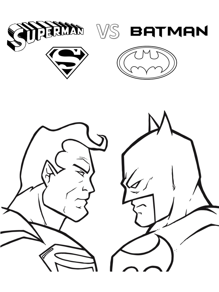 Printable Superman Vs Batman Coloring Pages For Kids Free