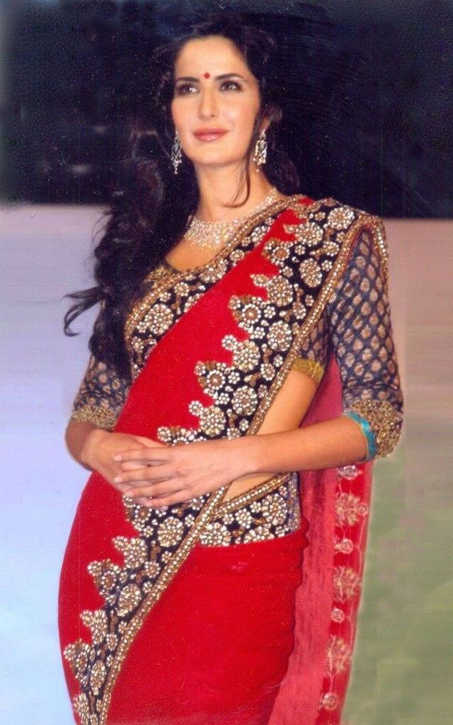 Katrina Kaif Blouse Design Saree Katrinakaif Nice Dresses Indian Celebrities Indian Bridal Outfits