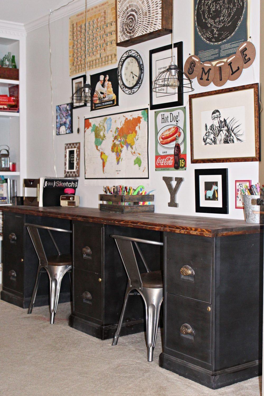 File Cabinet Desk DIY Home Office DIY Desk Repurpose ...