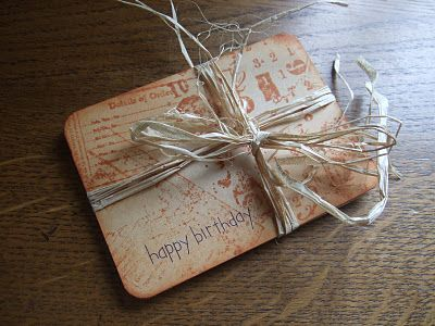 Made By Joanne - lovely way to 'wrap' a gift card...the blog itself is inspirational, such a clever lady with huge talent