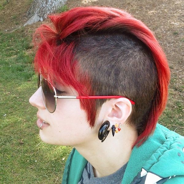 Awesome 1000 Images About Hairstyles On Pinterest Girl Mohawk Mohawks Hairstyle Inspiration Daily Dogsangcom