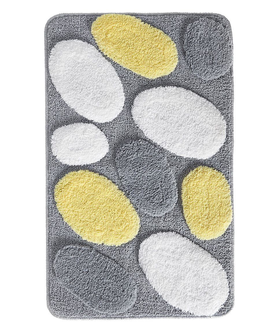Badezimmer ideen rosa und grau look at this zulilyfind yellow u gray pebblz rug by interdesign