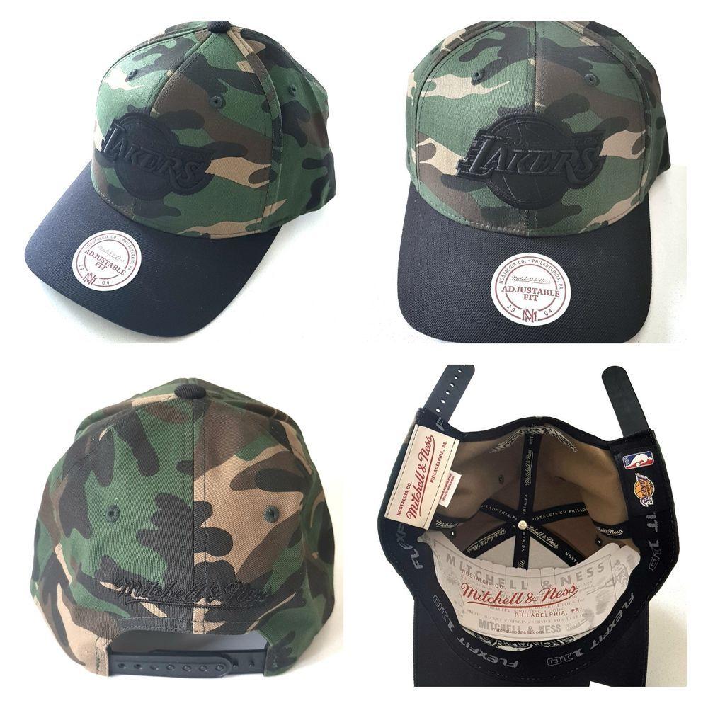 7b9d880f989 Mitchell & Ness Los Angeles Lakers Camo FLEXFIT Snapback Cap Hat NBA  Basketball #MitchellNess #