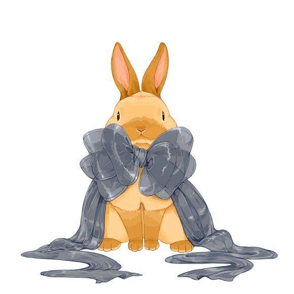リボンをかけて らいらっく かわいい動物の絵 うさぎ イラスト かわいい かわいい 動物 イラスト