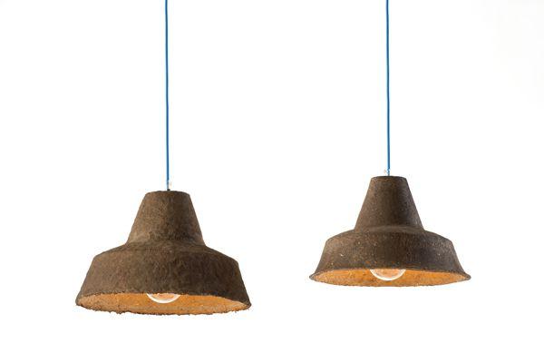 degradable - light fixture made from soil