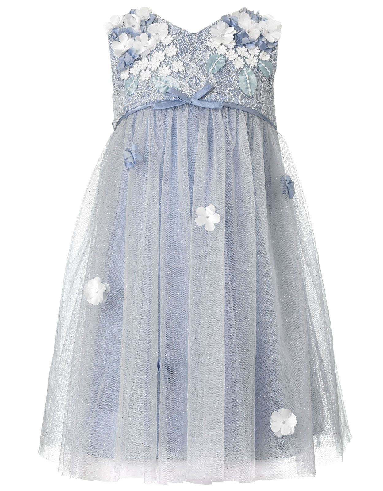 Baby Lilly Flower Dress | Blue | Monsoon - in infant and toddler ...