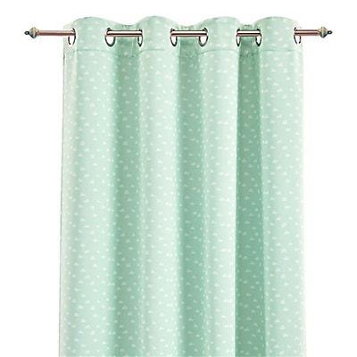 rideau occultant vert d eau motifs