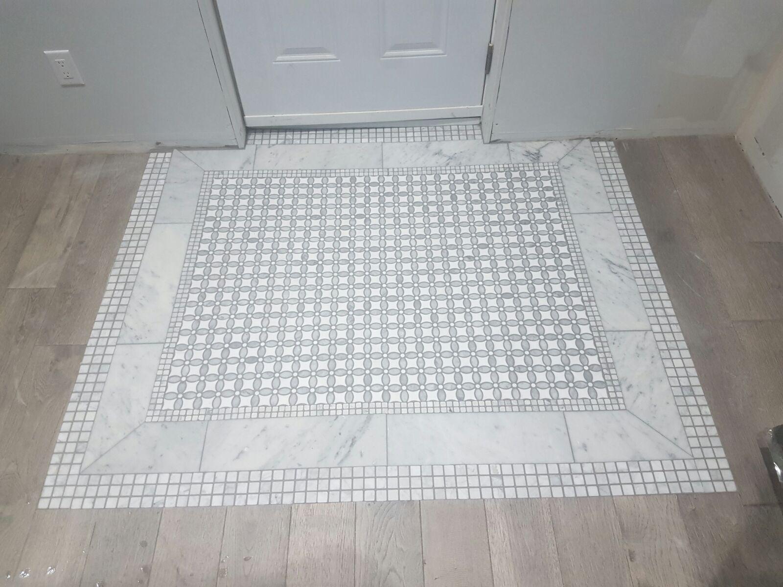 Marble Mosaic Insert M2tilestone Toronto Tile Tiles Tiletrends Renovation Kitchen Bathroom Interiordesign Int Mosaic Insert Tile Trends Marble Mosaic