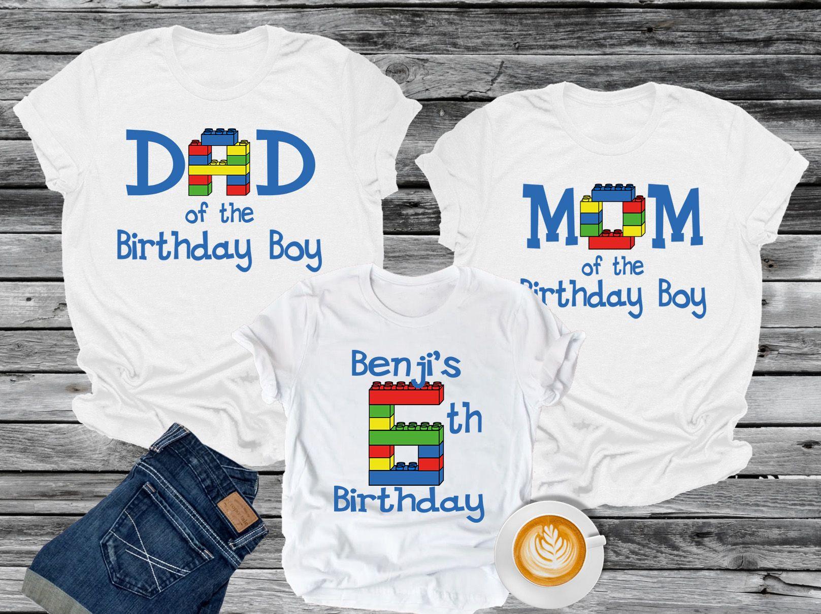 Family Birthday Shirts. Lego Star Wars Birthday Party Boy Shirt