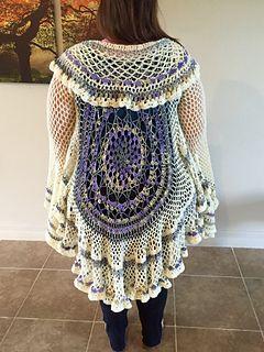 Lotus Mandala Duster Free Pattern Available On Ravelry Crochet
