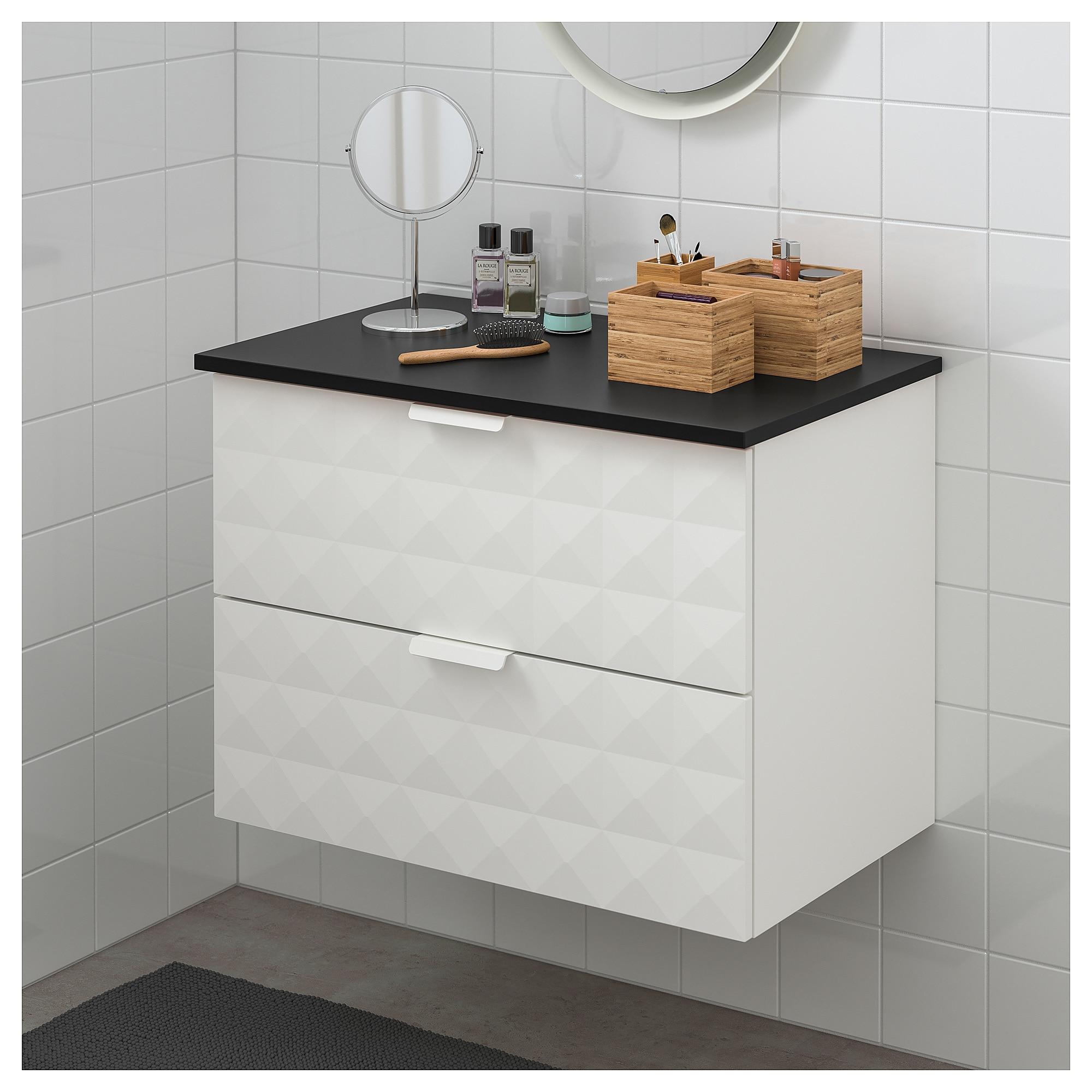 IKEA / TOLKEN Bathroom vanity Resjön white