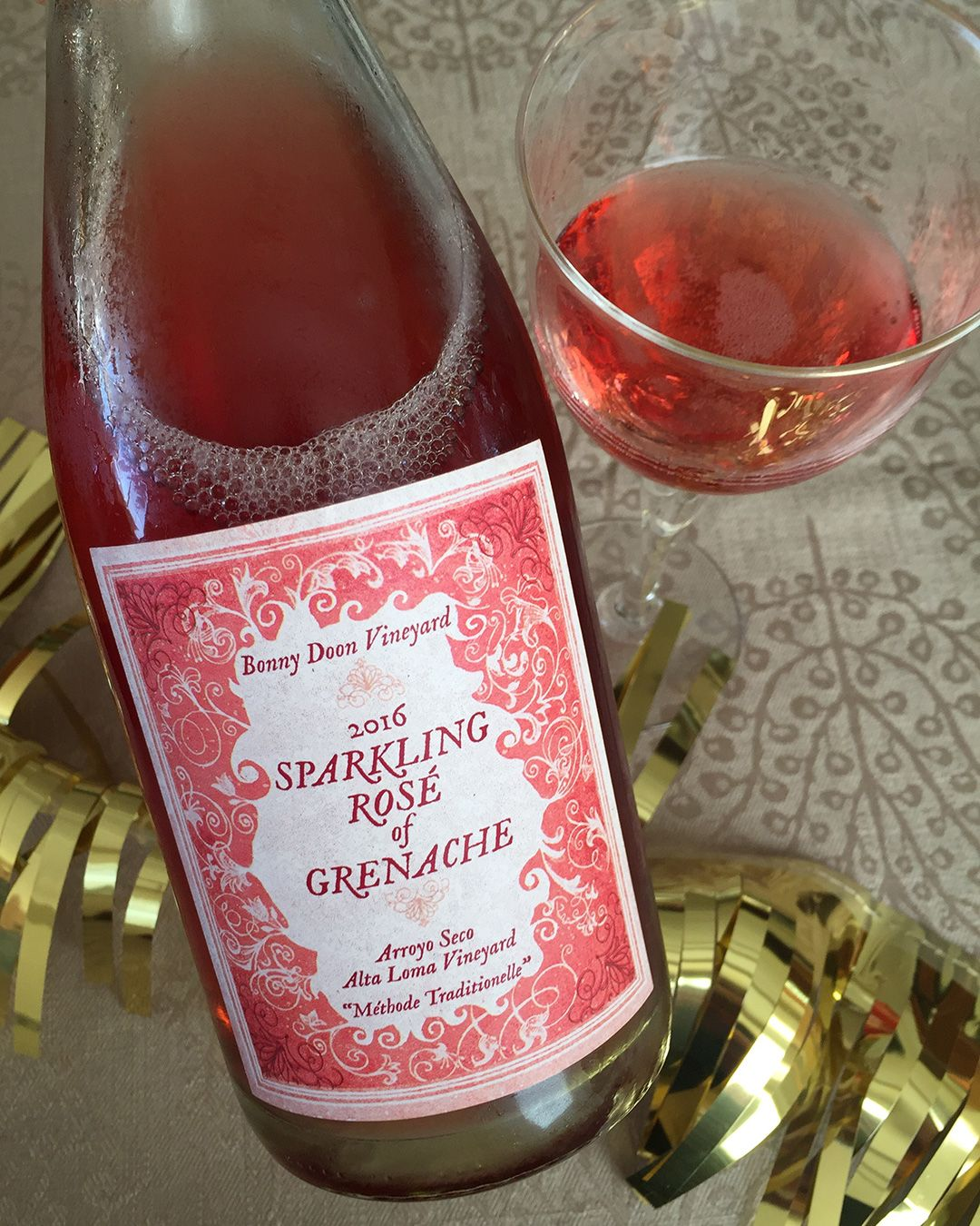 2016 Sparkling Rose Of Grenache By Bonny Doon Vineyard 100 Grenache Exceedingly Food Friendly And Fun Sparkling Wine Grenache Wine Bottle