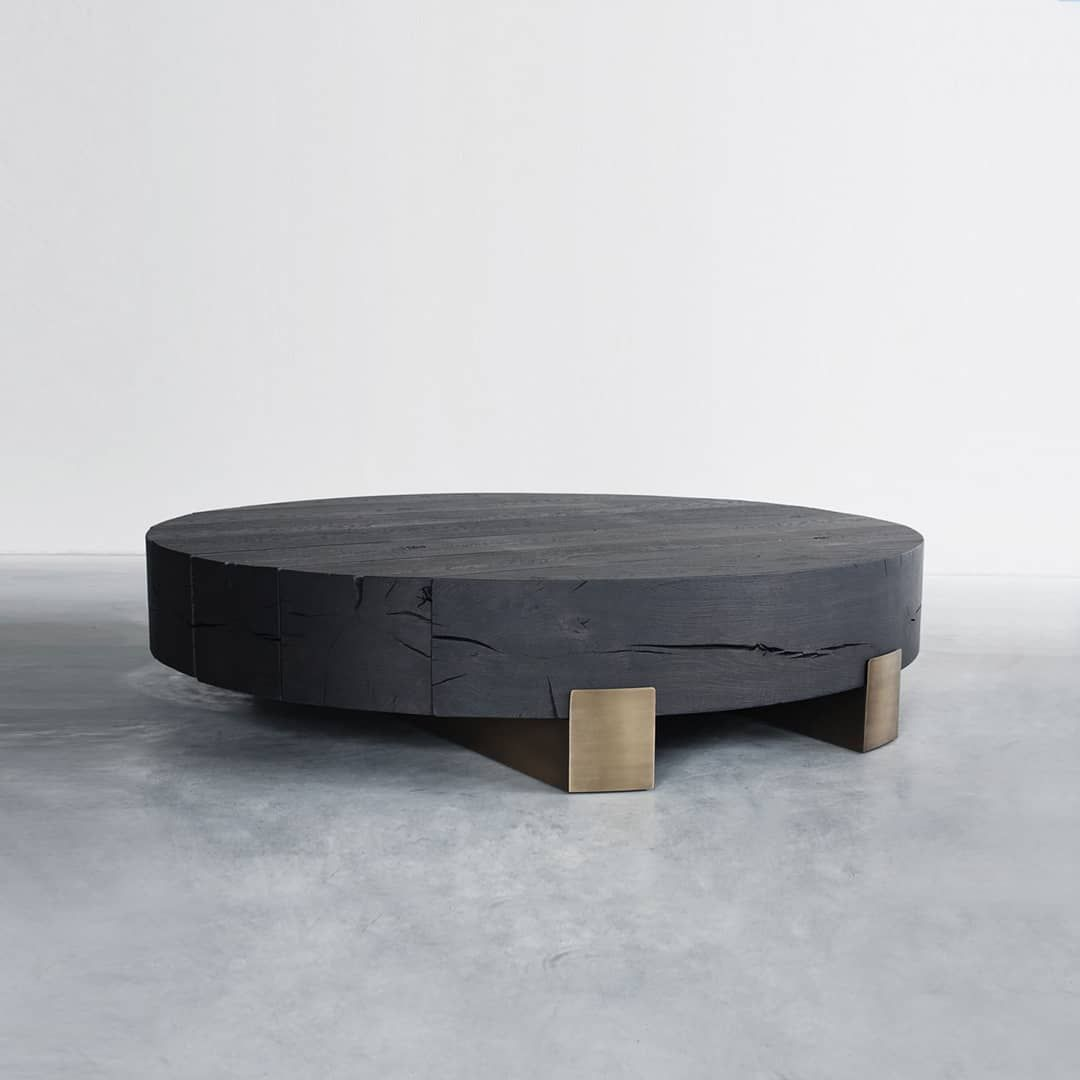 Beam Limited Round Coffee Table Is A Low Circular Coffee Table Of