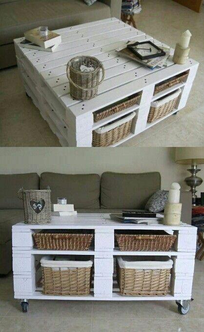riciclo creativo pallet - tavolino salotto | home ideas ...