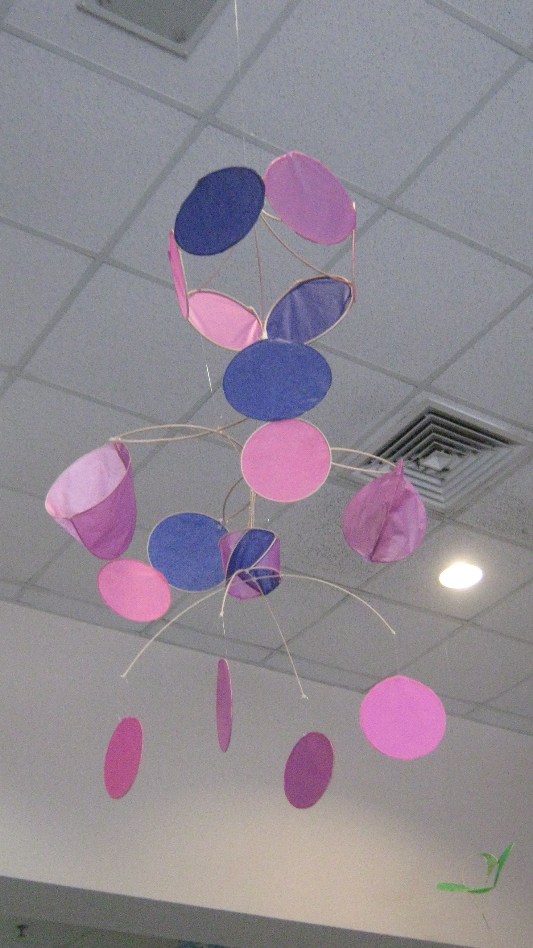 Made from reed and tissue paper Mobiles