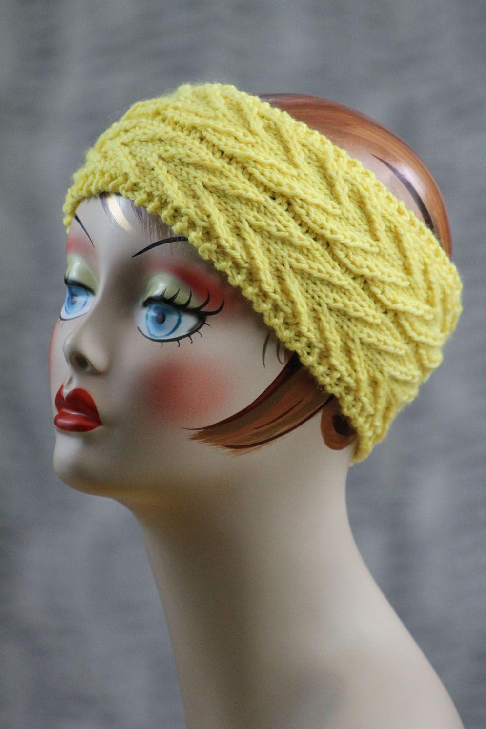 Free+Knitting+Pattern+-+Hats:+Around+We+Go+Headband | Knitted hats ...