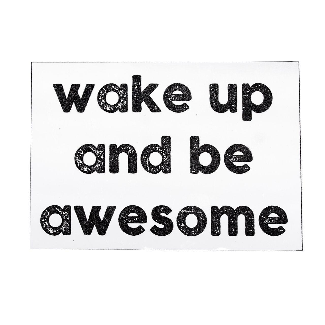 Bloomingville / Dekorativní samolepka na zeď Wake up