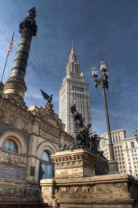 Located on Public Square in downtown Cleveland, Ohio The Cuyahoga County Soldiers' and Sailors' Monument is a monument to Civil War soldiers and sailors from Cuyahoga County, Ohio. It was designed by Levi Scofield and opened in 1894.