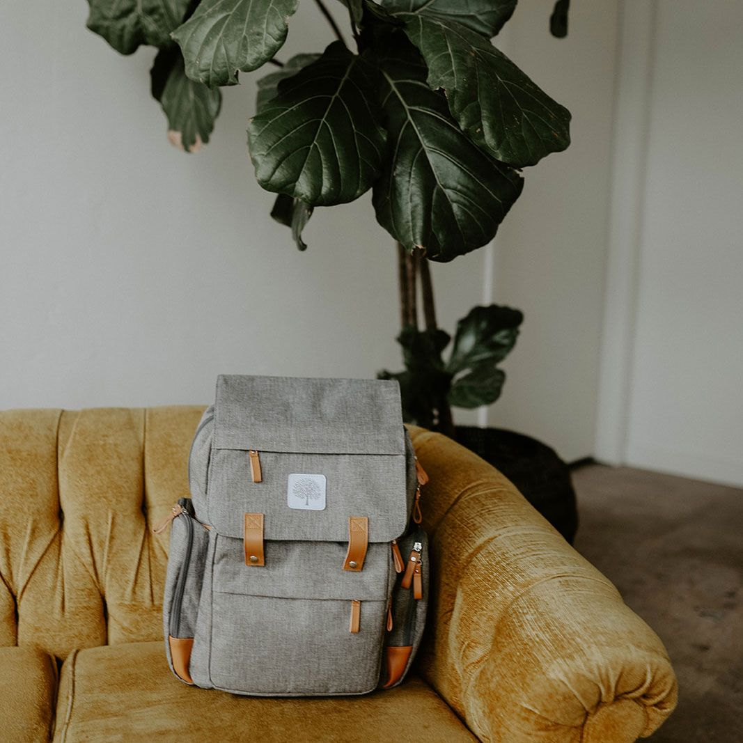 13ec3a4b9188 Parker Baby Co. Birch Bag. Your favorite diaper backpack now comes in all  gray and still have over 10 pockets. The gender neutral and beautiful  design is ...