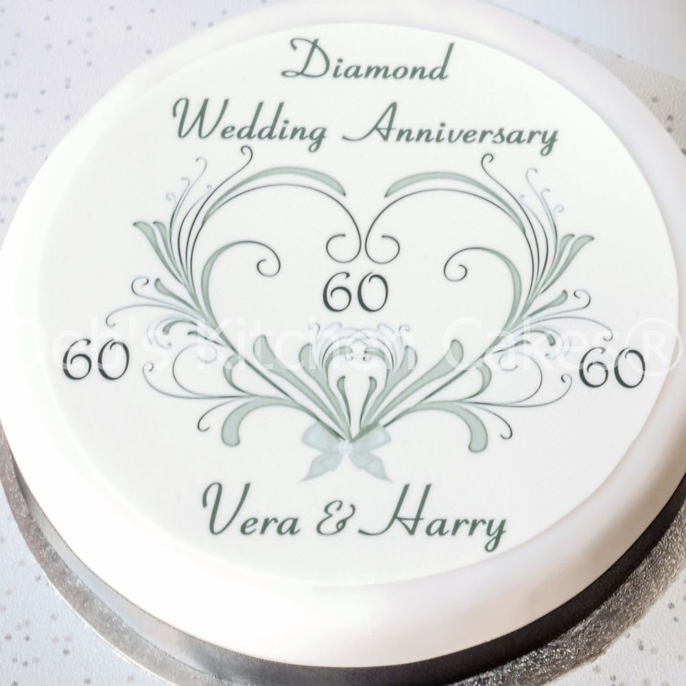 Image result for ideas for 60th anniversary cakes | Diamond Wedding ...