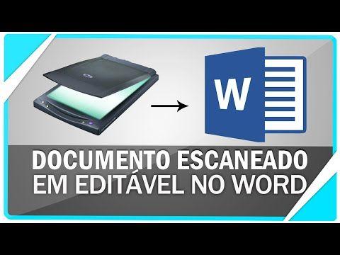Como converter documento escaneado para editável no Word ( SEM PROGRAMAS ) - YouTube