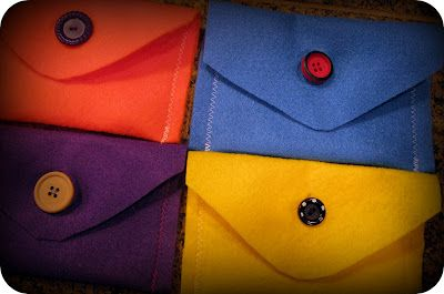 Easy felt envelopes