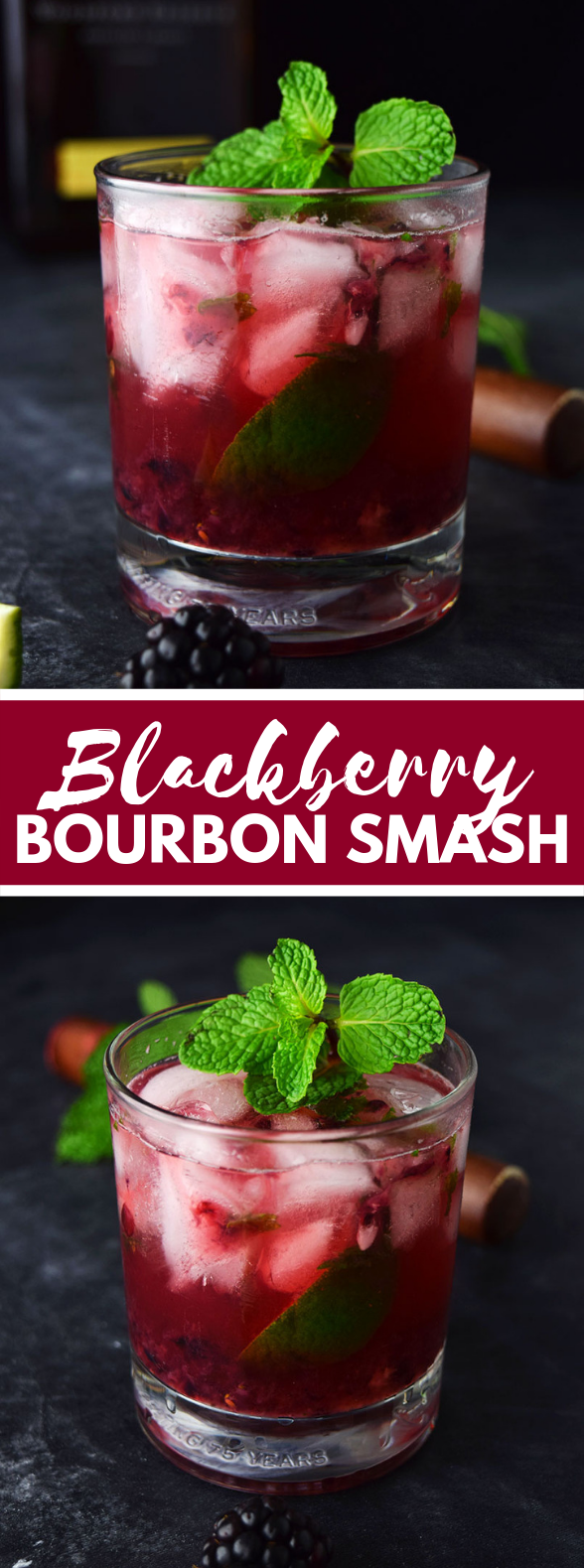 Blackberry Bourbon Smash (Whiskey Smash Recipe) #cocktails #drinks