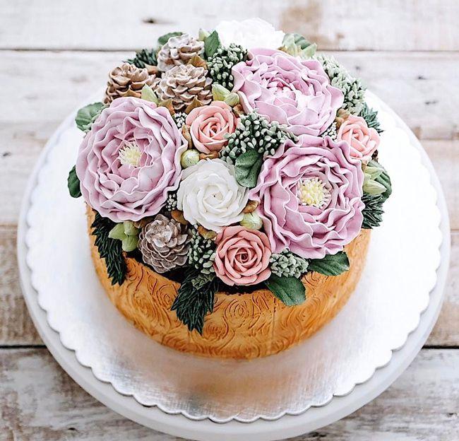 Невероятно красивые весенние торты-цветы (35 фото) (с ...