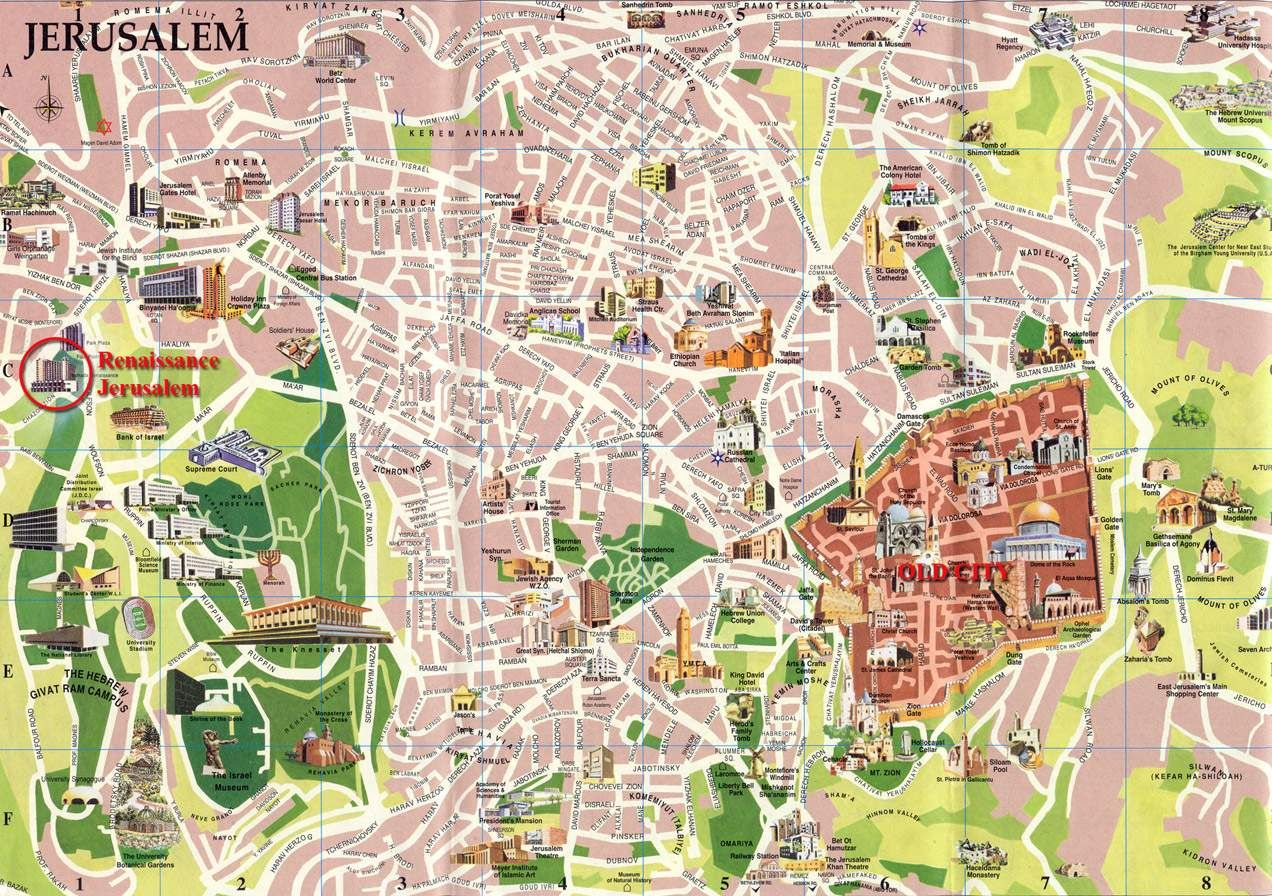 detailed map of jerusalem Maps Pinterest Jerusalem Tourist