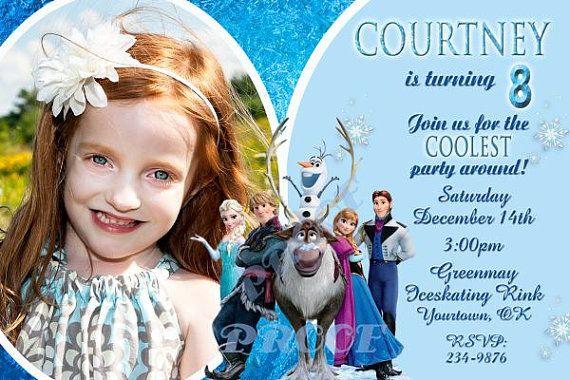 Disney Frozen Invitation Birthday Party Princess Ana Princess Elsa - invitation birthday frozen
