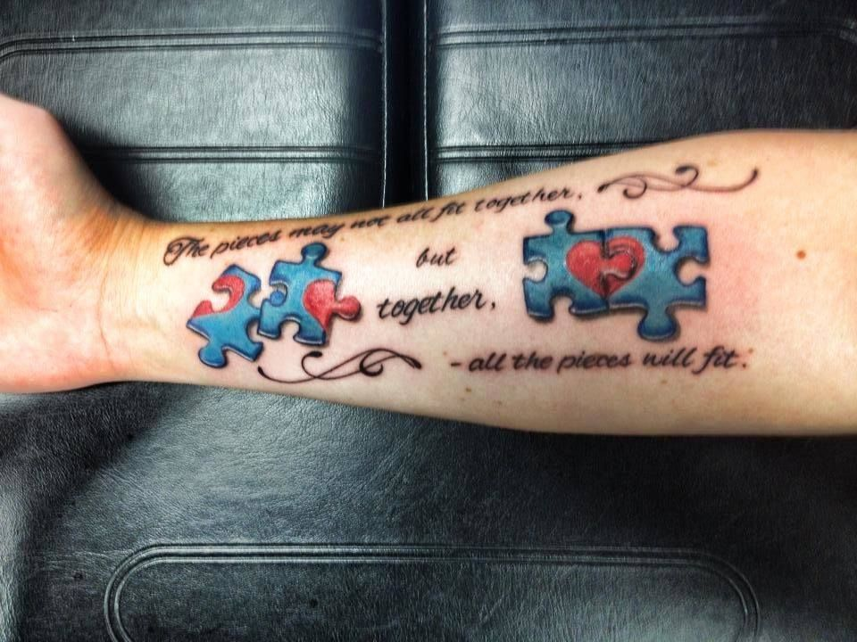 Very Cool Autism Tattoos Awareness Tattoo Puzzle Tattoos