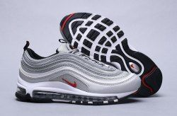 65ed49ad79 Nike Air Max 97 Og Qs Silver Bullet Metallic Silver 884421 001 Sneaker Men's  Women's Shoes