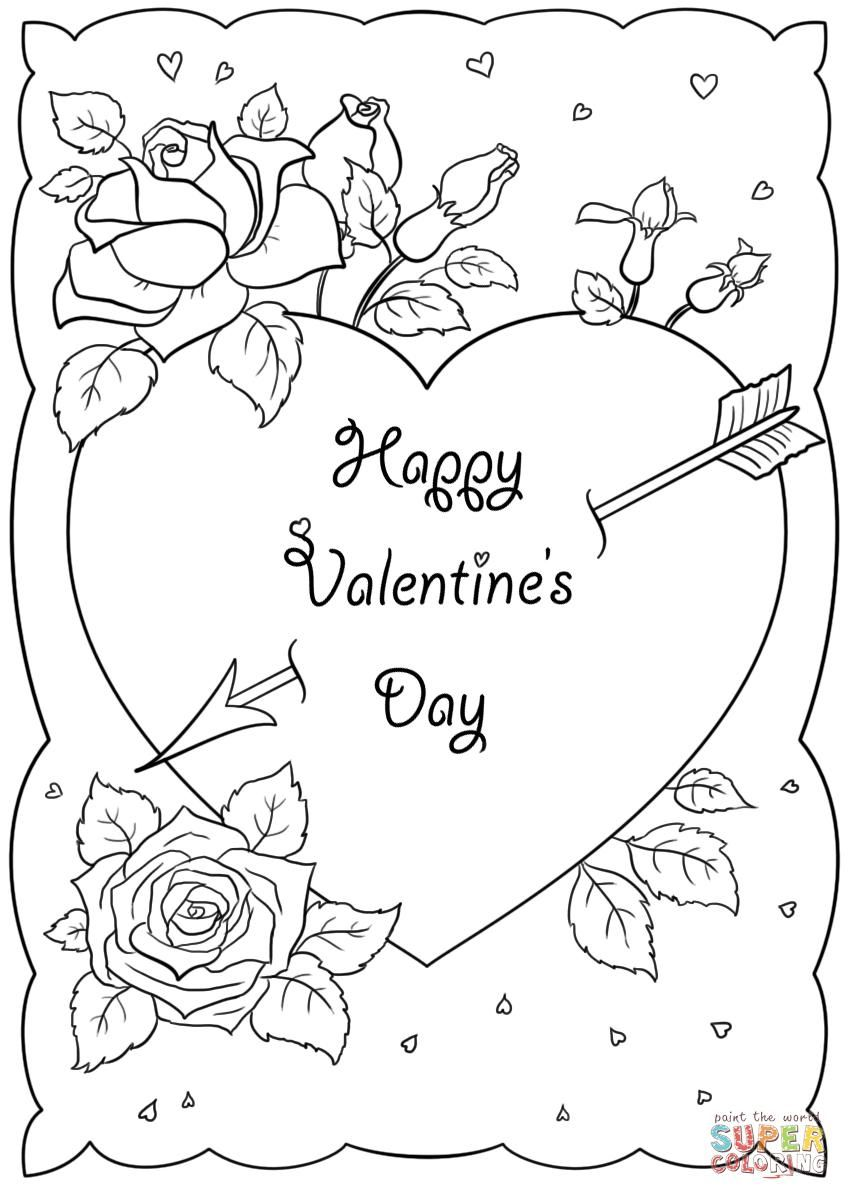 38 Coloring Page Valentine Cards Valentines Day Coloring Page Valentine Coloring Pages Valentine Coloring