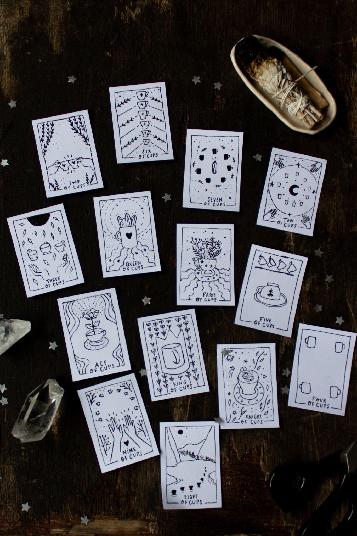 Printable Tarot Diy Tarot Cards Tarot Card Meanings Tarot Cards For Beginners