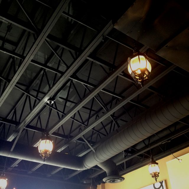 Shani Says Lanterns Exposed Ceiling Are Painted Matte Black This Creates Unity And The