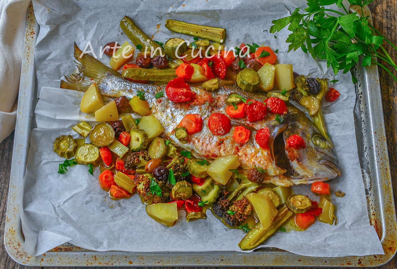 Photo of SEA BREAM with VEGETABLES baked SECOND light fish