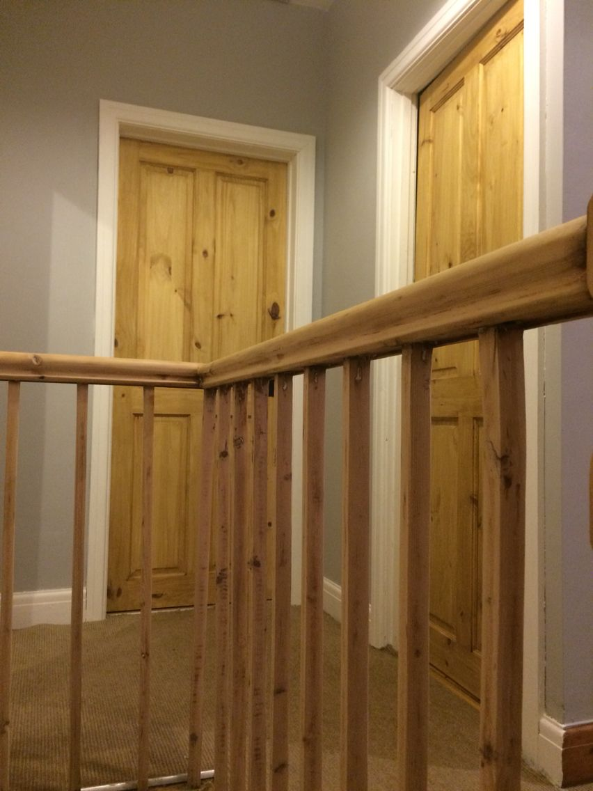 Best Ethel St Grey Walls Waxed Pine Doors Bannister Stripped 640 x 480