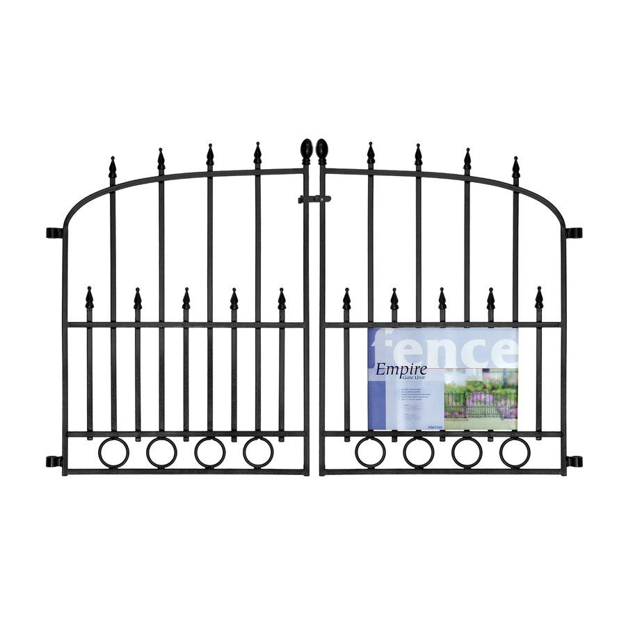 No Dig 29 3 In X 46 77 In Powder Coated Steel Empire Fence