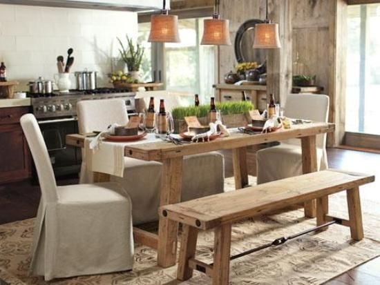 Farm Style Dining Table Never Miss An Online Sale Dining Room - Restaurant style kitchen table