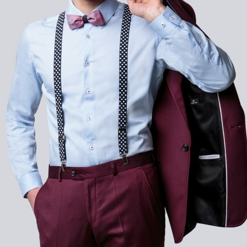 Garnitur Slubny Granat Krawat Bordo Szukaj W Google Wedding Suits Mens Fashion Fashion