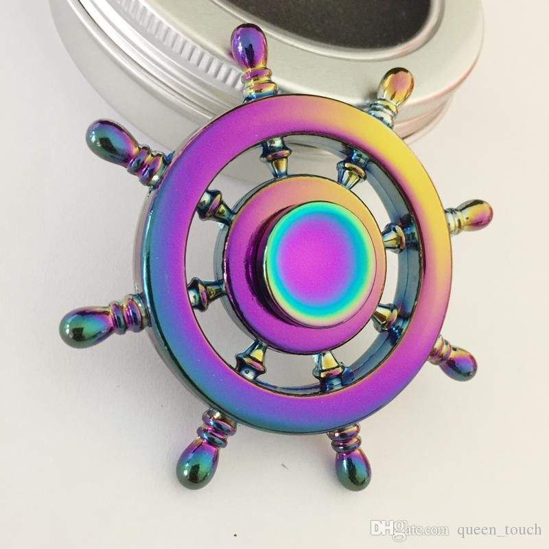 Colorful Rainbow EDC Fid Spinner Helmsman Hand Spinner Aluminium