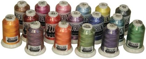 Floriani Variegated Embroidery Thread -- 1000m Cones