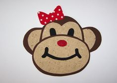 monkey face template for applique fabric applique template only