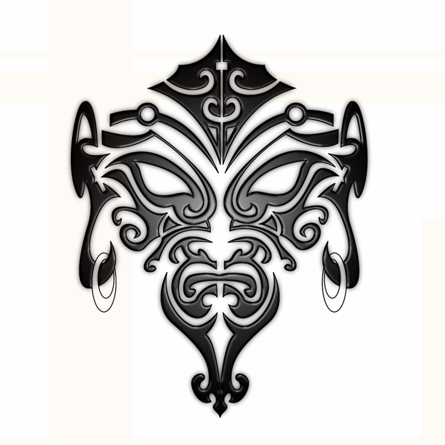 Maori Tribal Face Tattoo: Black Maori Face Tattoo Stencil