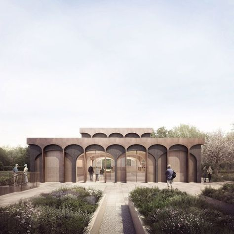 CGI artist Forbes Massie exhibited a series of architectural renderings with a painterly rather than photorealistic aesthetic at the Protein Studios Gallery