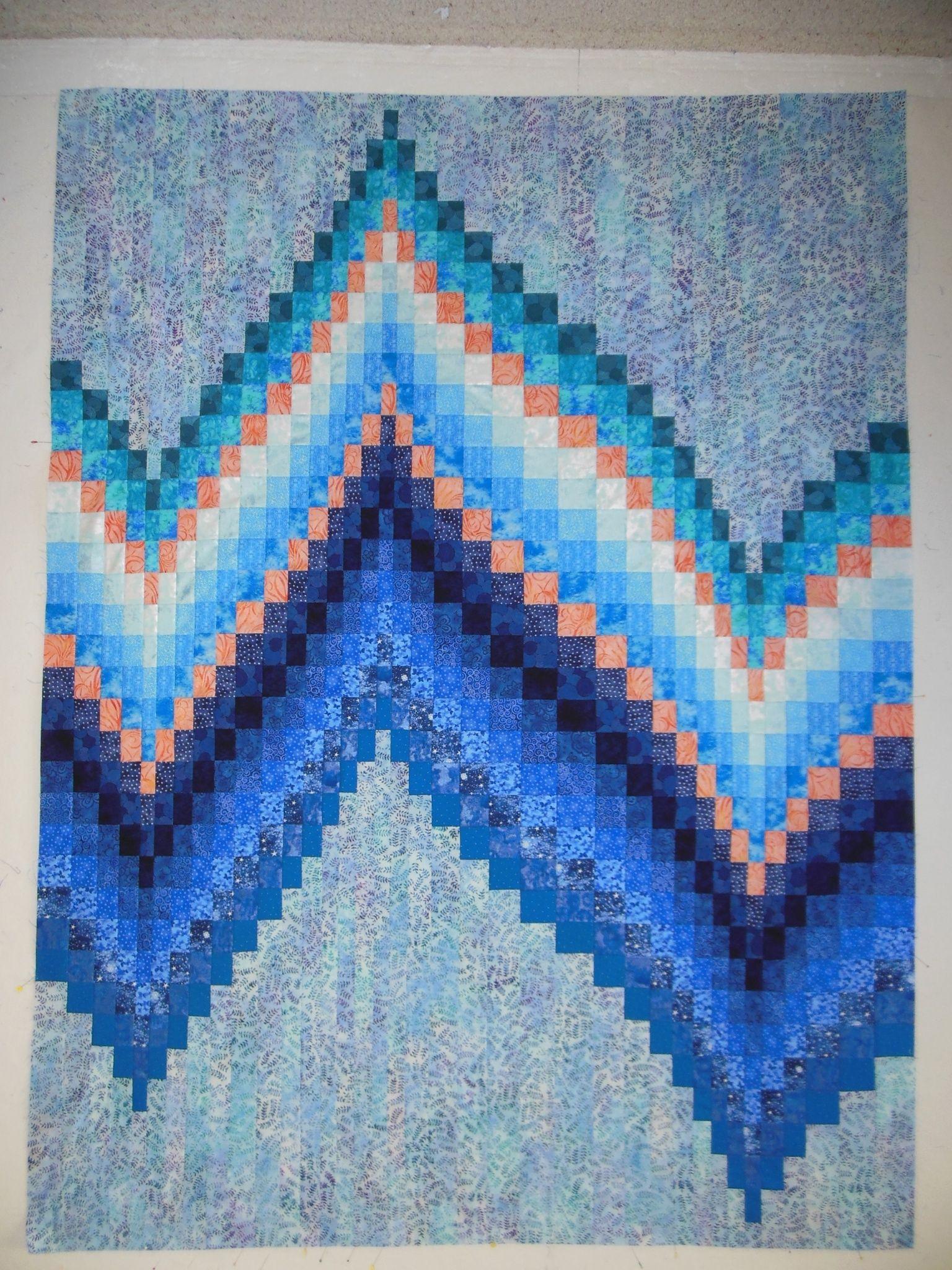 Polar Bear bargello quilt kit at Northern Threads | Bargello ... : bargello quilt kits - Adamdwight.com